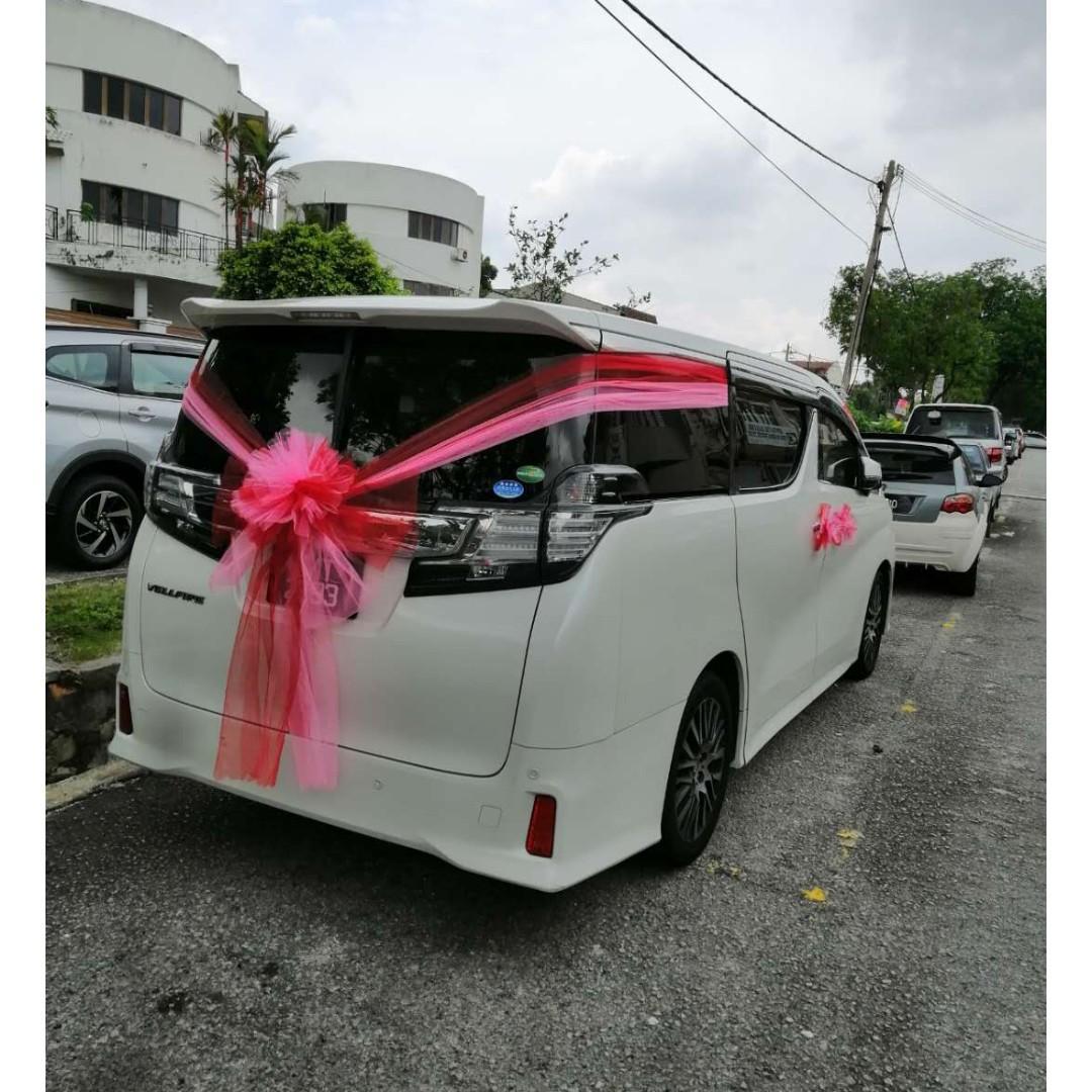 Wedding car for rent Alphard And Vellfire Kuala Lumpur Shah Alam Klang