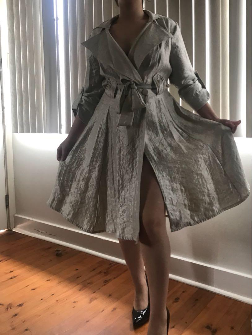 Women's sheike belted collar formal party dress size 10