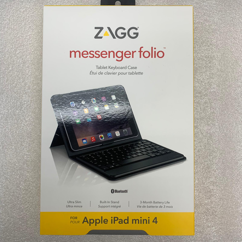 2c2d04c9a88 ZAGG Messenger Folio Non-Backlit Keyboard iPad mini 5 / 4, Mobile Phones &  Tablets, Mobile & Tablet Accessories, Cases & Sleeves on Carousell