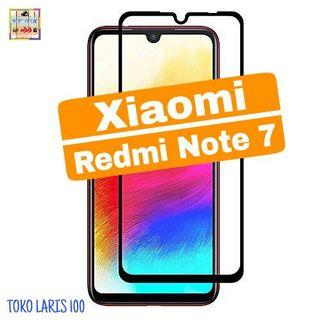 Tempered Glass Xiaomi Redmi Note 7 Warna Hitam 9D