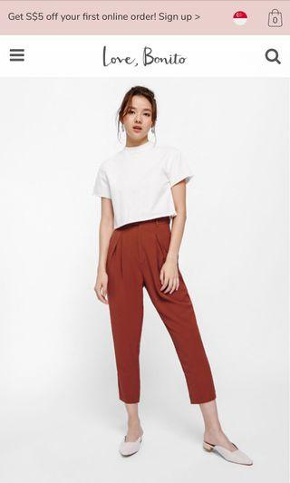 Love Bonito Rust pants