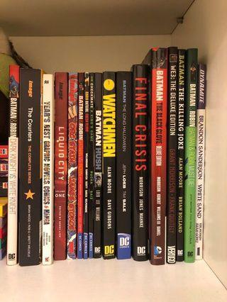 Hardcover Comics - DC, Image, Batman - Some Items SOLD - check list