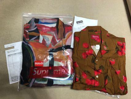 Supreme 19ss rayon shirt