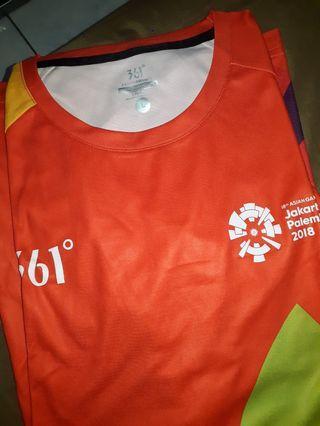 Baju volunteer asian games 2018 361° size L