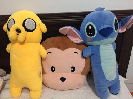 🚚 玩偶娃娃-史迪奇&老皮&猴子❤️