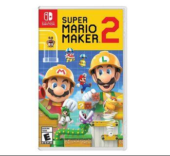 READY STOCK! Super Mario Maker 2 Nintendo Switch