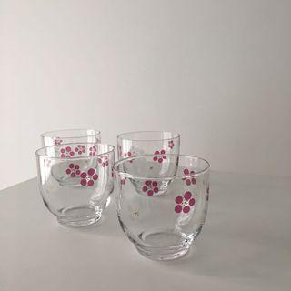Sakura glass cups