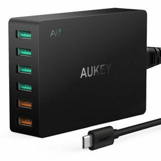 Aukey 6-Port Charging Station with Qualcomm 3.0 PA-T11