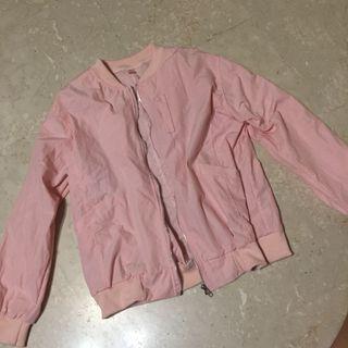 Baby Pink Bomber Jacket