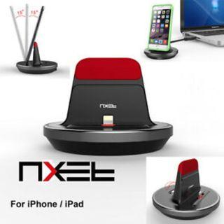 NXET [Apple MFi Certified] Desktop Charger Cradle, Charging & Data Sync Stand Holder for iPhone