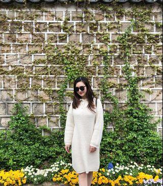 knitted jumper dress #junetogo