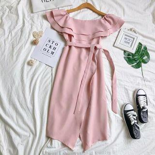 Pink Ruffles Dress #junetogo