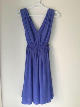 Purple chiffon Anthropology dress, sz 2