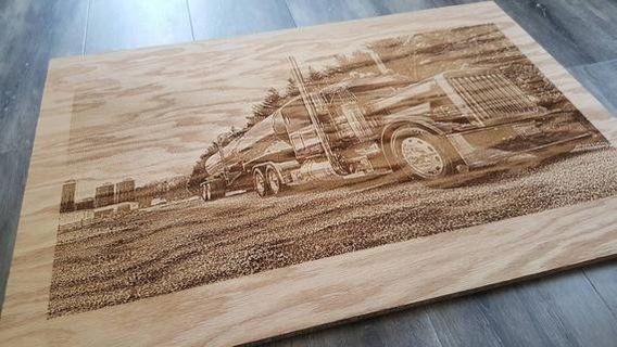 Laser engraved photos
