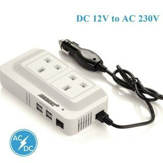BESTEK 200W Power Inverter DC 12V to 230V AC with 4.2A 4-Port USB
