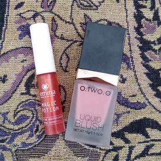 #SociollaCarousell O.TWO.O Liquid Blush & Emina Magic Potion Lip Tint Bundle PRELOVED