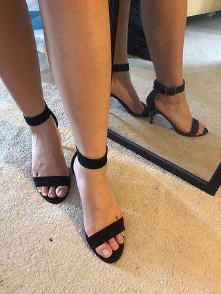 Forever 21 black heels - size 5.5