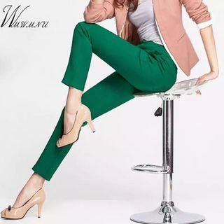 (PO) S-4XL 2018 NEW women's casual OL office Pencil Trousers Girls's cute 12 colour Slim Stretch Pants fashion