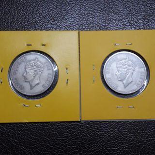 Malaya 20 Cents 1950(2 pcs)