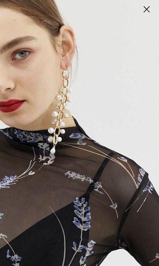 🚚 Asos pearl chain earrings