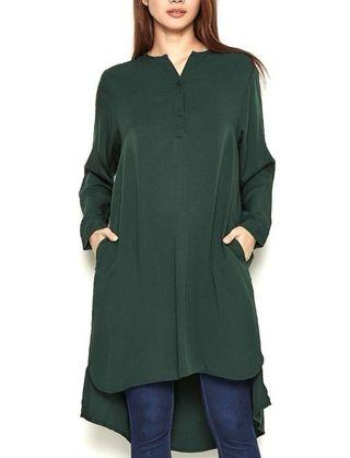Long Sleeve Blouse in Green