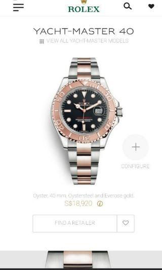 🚚 Brand new Rolex yachtmaster half rose gold 116621 black dial