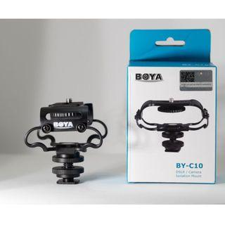 BOYA BY-C10 Universal Microphone and Portable Recorder Shock Mount for Zoom H4n, H5, H6, Tascam DR-40