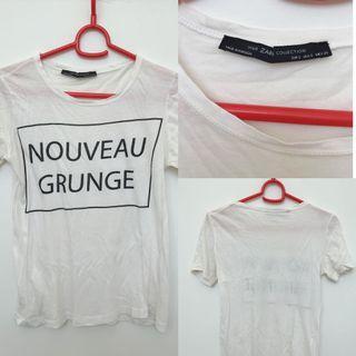 🚚 Zara white cotton t shirt tee #MRTSerangoon