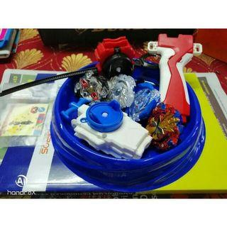 Combo of 4 beyblade w 2 Launcher 1 Stadium - Ready to Fight