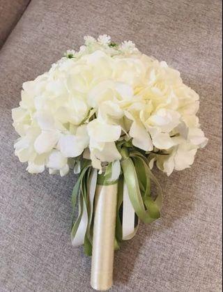 白色 結婚花球