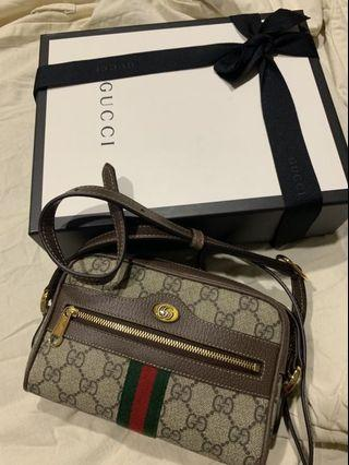 Gucci Ophidia GG Supreme mini bag老花斜背包