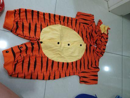 Lightly worn barney tiger and superman romper