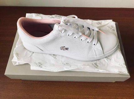 Baby pink Lacoster shoes