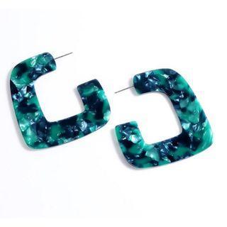 Jade Resin Hook Earring
