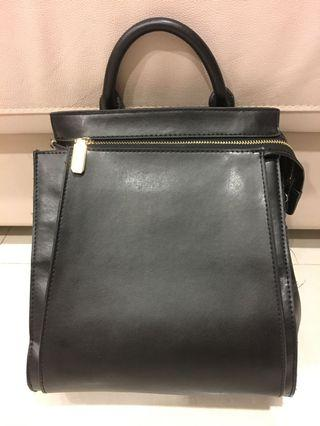 Original Charles and Keith pu leather backpack