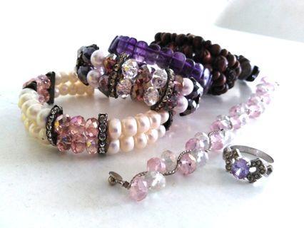 A set of accessories ring bracelet bangle mutiara sabah #junetogo