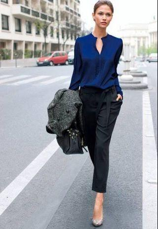 Zara shirt blue