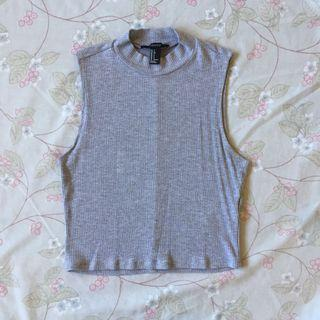 F21 mock neck ribbed top