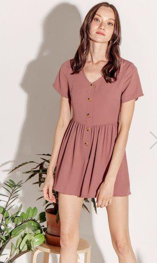Sassydream Charley Playsuit in Dusty Pink