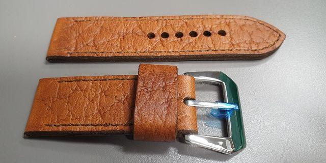 handcrafted buffalo leather strap