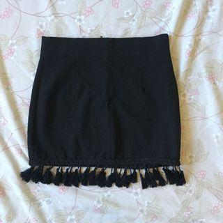 Zara black tassel skirt