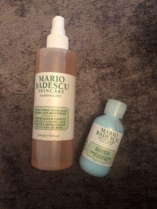 Mario Badesco Facial Spray and buttermilk moisterizer