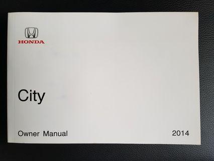 Honda City Owner Manual 2014