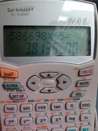 selling partially working sharp scientific calculator el-509ws