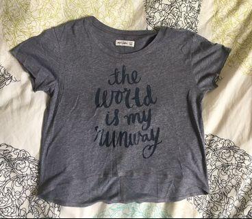 Abercrombie kids flowy grey t-shirt