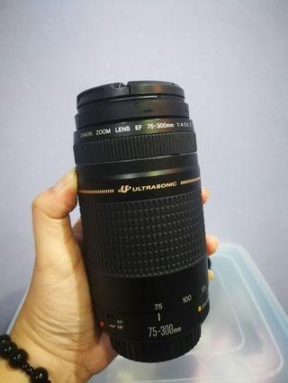 Canon 75-300mm lens (used) condition like very new