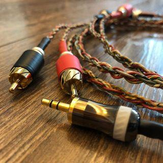 Western Electric 3.5mm to 2 RCA (made from vintage WE 1950s' 6pcs of 24AWG Solid core cable)