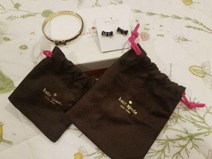 Kate Spade New York Ribbon Earrings and Bangle [BETTER TOGETHER]