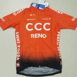 Team Giant CCC 2019 TDF Short Sleeves Jersey for Men Orange