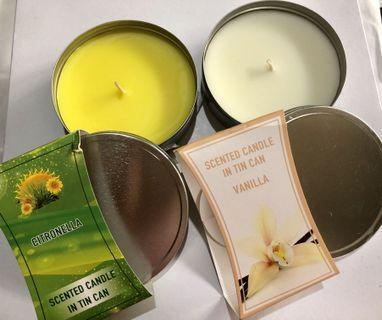 Scented Candle in Tin Can 11x3.7